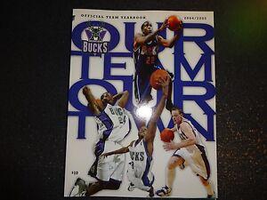 2004-2005 Milwaukee Bucks Official Yearbook NBA Basketball Free Shipping!!