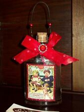 NEW VALENTINE MESSAGE IN A BOTTLE LOVE POTION HEART ORNAMENT HANGING -CUPID