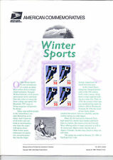 #3180 Alpine Skiing USPS Commemorative Panel NO #532
