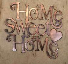 Home Sweet Home Rustic Copper Patina Metal Wall Art