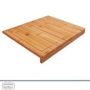 Bamboo Counter Edge Chopping Board Secure Wooden Kitchen Cutting Board M&B