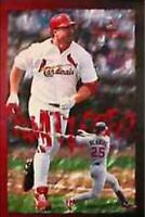 New Costacos MLB St Louis Cardinals Mark McGwire Shattered Wall Poster 22.5 x 35