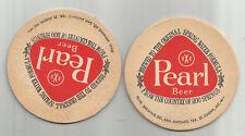 """5 1960's Pearl Beer Coasters=Pearl of San Antonio, TX 3 1/2""""  #010 1,100 springs"""