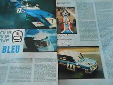 1970 Clipping Course F1 Rallyes Pour que vive Le Bleu ELF ( 2 pages )