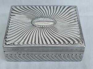 Superb Victorian Sterling Silver Cigarette Box By Samuel Walton Smith 1893