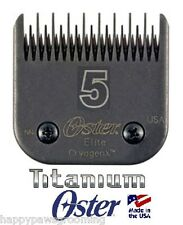 Oster A5 ELITE TITANIUM Cryogen-X Clipper Blade 5 Skip*LASTS 3X Longer*Fit Andis