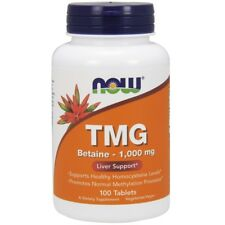 Now Foods TMG (Trimethylglycine) 1000mg, 100 tablets - LIVER SUPPORT
