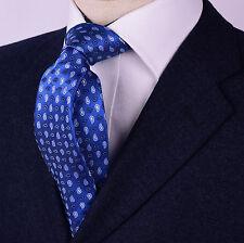 "Light Blue Mini Paisley Floral Skinny 3"" Inch Necktie Light & Dark Designer Boss"