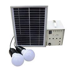 18V 5W Solar Energy Supply Portable Power Generator System Solar Panel +2 Bulbs