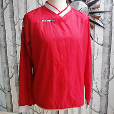 Kappa Men's Training Warm Up Track Top Red and White Vintage 90s? Size L Large