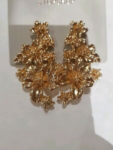 Freedom At Topshop Gold Flower Earrings