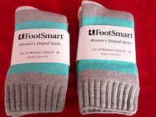 2 Pair Foot Smart Acrylic Wool Mid Calf Women Boot Sock Non Binding Top 6-10 USA