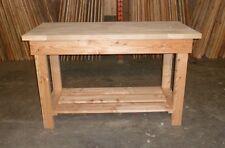 Wooden Work Bench 1.45m long solid beech top by Gardenlarch ltd