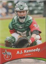 2016 Fort Wayne Tin Caps AJ Kennedy RC Rookie Padres Minor