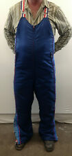 Vintage Polaris Snowmobile Men's Medium Blue Insulated Bib Snowmobile Pants