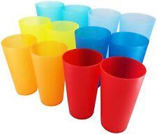 32-ounce Plastic Tumblers Reusable Bpa Free Dishwasher Safe Restaurant Set of 12