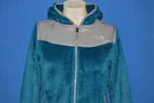 NORTH FACE BLUE GRAY ZIP FRONT GIRLS KIDS JACKET YOUTH MEDIUM YM