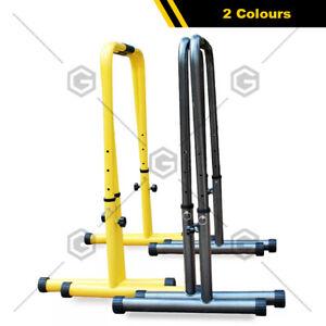 POWER Dip Bar Dip Stand Station Strength Training Adjustable Height 77-98cm