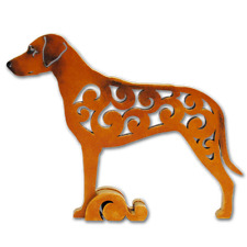 Rhodesian Ridgeback dog figurine, dog statue made of wood (MDF), hand-paint
