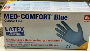 Blue Latexhandschuhe Einmalhandschuhe  puderfrei 100 Stck   verschiedene Größen