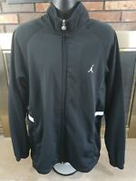 Nike Air Jordan Full Zip NBA Basketball Warmup Track Jacket Mens Size XL Black