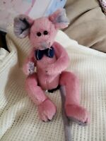"""TY Attic Treasures Collection CROMWELL Mouse 9"""" PVC Pellets Plush 1993 NEW"""