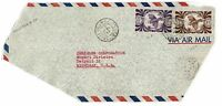 New Caledonia 1948 Airmail Cover to Michigan, front only, see notes - Lot 101717