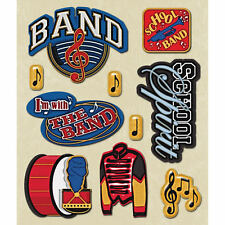 K&COMPANY STICKER MEDLEY SCHOOL BAND MUSIC MARCHING 3D SCRAPBOOK STICKERS
