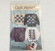Quilt shirts 1 machine applique pattern for clothing wild goose chase company