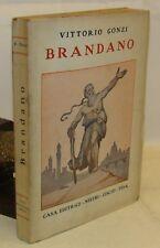 STORIA PAPI Biografia  - V. Gonzi: BRANDANO - Nistri Lischi 1935 Dedica Autore