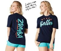 ZUMBA Unisex Beach Baller Navy Tee sz X-Small New with tags Gorgeous!