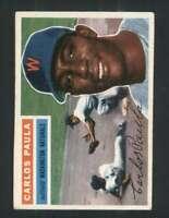 1956 Topps #4 Carlos Paula EX/EX+ Senators 94699