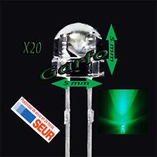 20X Diodo LED 5x5 mm Verde 2 Pin alta luminosidad