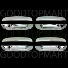 FOR CHEVY TRAILBLAZER 02-09 CHROME 4 DOORS HANDLES COVERS W/OUT PASSENGER KH