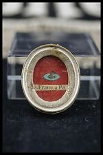 † 19TH ST FRANCIS of PAOLA RELIQUARY MINIMS ORDER 1 THECA RELIC WAX SEAL ITALY †