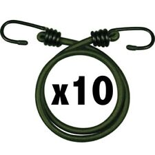 GREEN MILITARY BUNGEES x10 30 INCH ARMY CADET RECRUIT ELASTIC CORD BASHA TENT