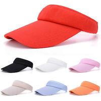 Women Men Solid Sun Visor Ladies Outdoor Sport Tennis Golf Headband Cap Hat