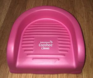 BABYSMART COOSHEE  CLASSIC BOOSTER SEAT COOSHIE CUSHY SOFT SQUISHY CHAIR PINK