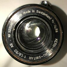 Kern-Macro Switar Lends 1 1.8/50 AR #933046 Made in Switzerland ALPA