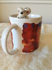 "Thomas Goletz Diddl Die Springmaus Coffee Mug ""Acht lacka ai!"" artist paint"