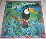 Hand Painted Needlepoint Canvas TOUCAN BIRD Rainforest Michael Willhoite, NEW!
