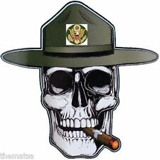 "ARMY DRILL INSTRUCTOR 5"" SKULL HELMET LAPTOP  MADE IN USA  DECAL STICKER"