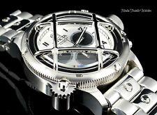 52MM Invicta Russian Diver NAUTILUS Quartz Chronograph All Silver Bracelet Watch