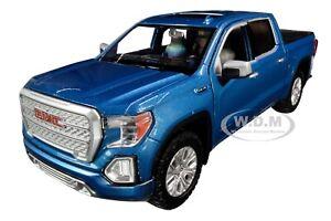 2019 GMC SIERRA 1500 DENALI CREW CAB PICKUP TRUCK BLUE 1/24-1/27 MOTORMAX 79362