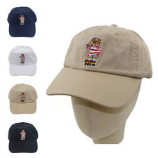 Teddy Bear Cap Red Stripe Embroidery Men Hat Black Navy Khaki For Running Sport
