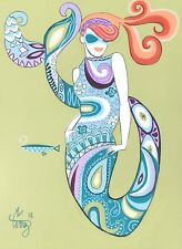 EL GATO GOMEZ RETRO PUCCI FASHION ILLUSTRATION POP ART MOD PSYCHEDELIC MERMAID