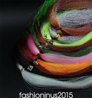 10colors Twisted Flashabou/Holographic Tinsel, Flash Tinsel, Fly Tying Material