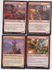 ALL RED  HUMAN WARRIOR DECK 40 CARDS N-MINT MTG MAGIC +20 LAND  J111-26