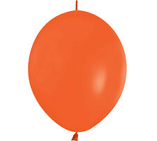 "20ct CRYSTAL ORANGE  Link-o-Loon 12"" Latex Helium Linking Balloons ARCHES ARBORS"