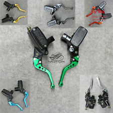 7/8'' Clutch Brake Levers Master Cylinder Reservoir Set For Kawasaki Motorcycle